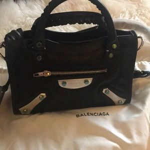 Balenciaga AMP Plate Mini City Satchel